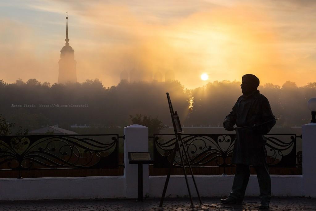 Туманное утро во Владимире 02