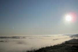 Туман над Клязьмой в последний день августа утром около Вязников