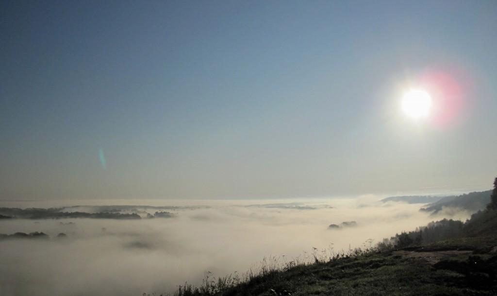 Туман над Клязьмой в последний день августа утром около Вязников 01