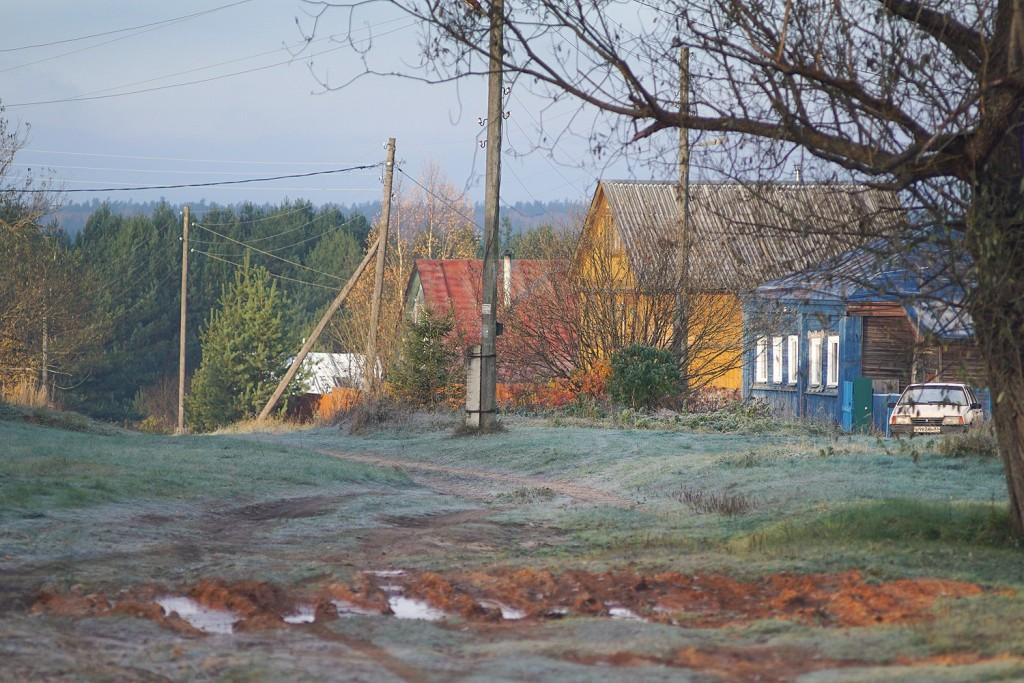 Морозное утро во владимирской деревне 02