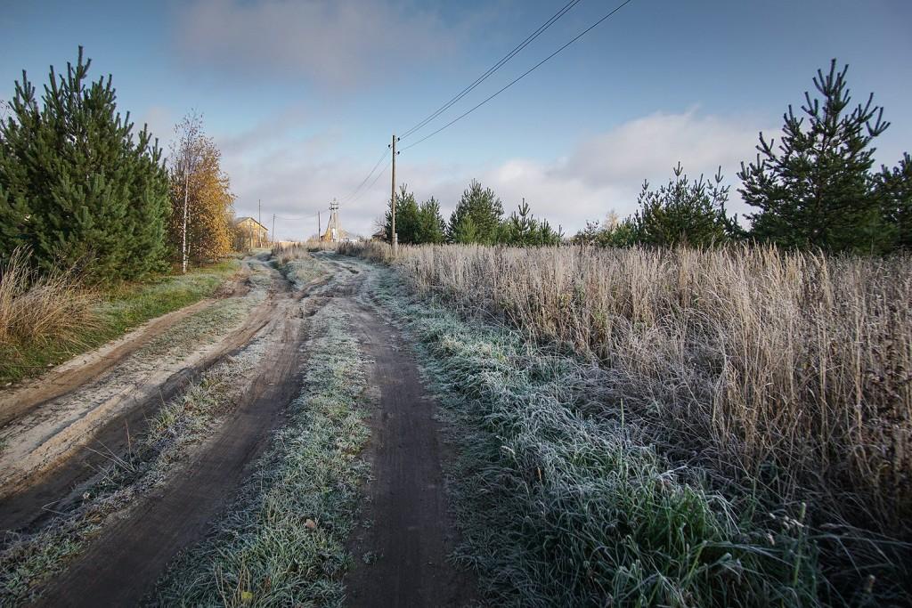 Морозное утро во владимирской деревне 07