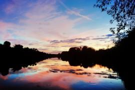 «Осенний закат. Река Клязьма» Петушинский р-он, п. Городищи