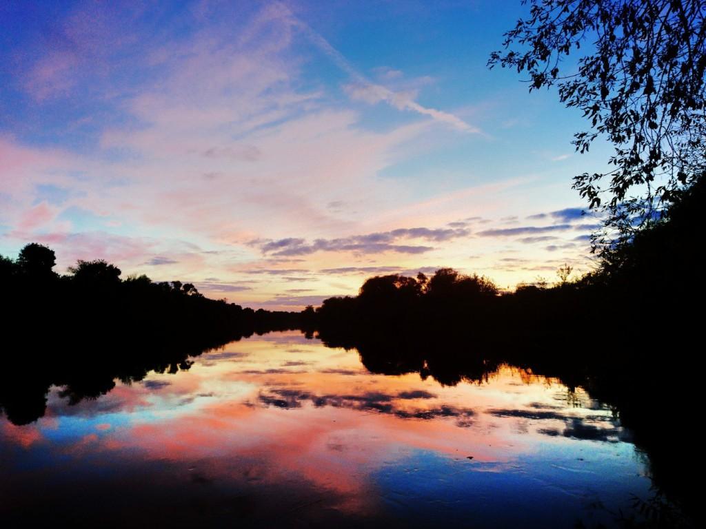 Осенний закат. Река Клязьма Петушинский р-он, п. Городищи