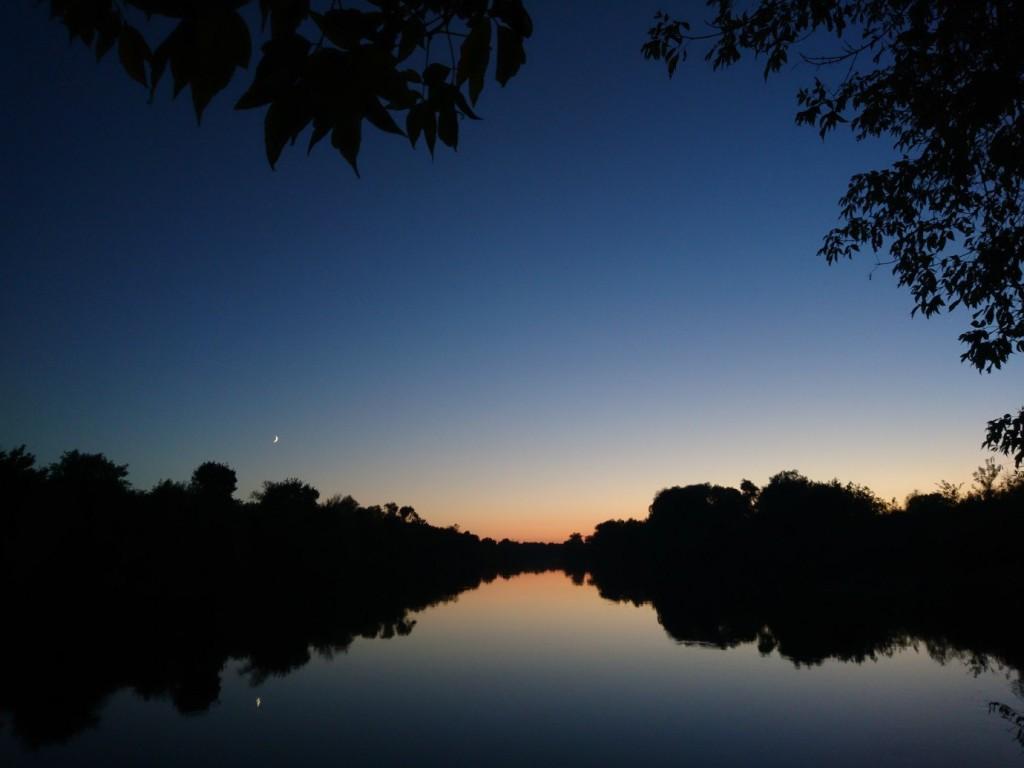 Осенний закат. Река Клязьма, посёлок Городищи, Петушинский район.