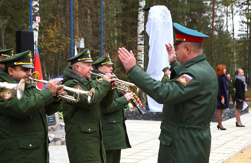 Открытие монумента на Аллее Мужества, Мелехово 00