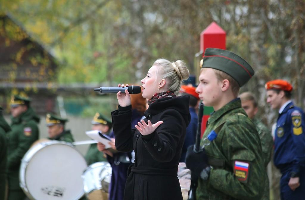 Открытие монумента на Аллее Мужества, Мелехово 02