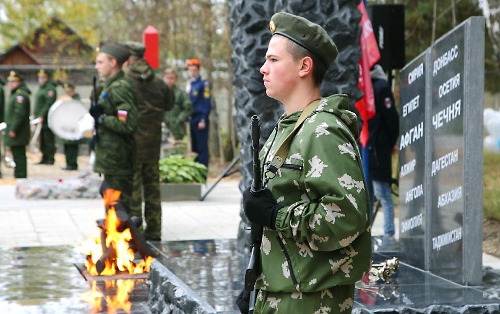 Открытие монумента на Аллее Мужества, Мелехово 05