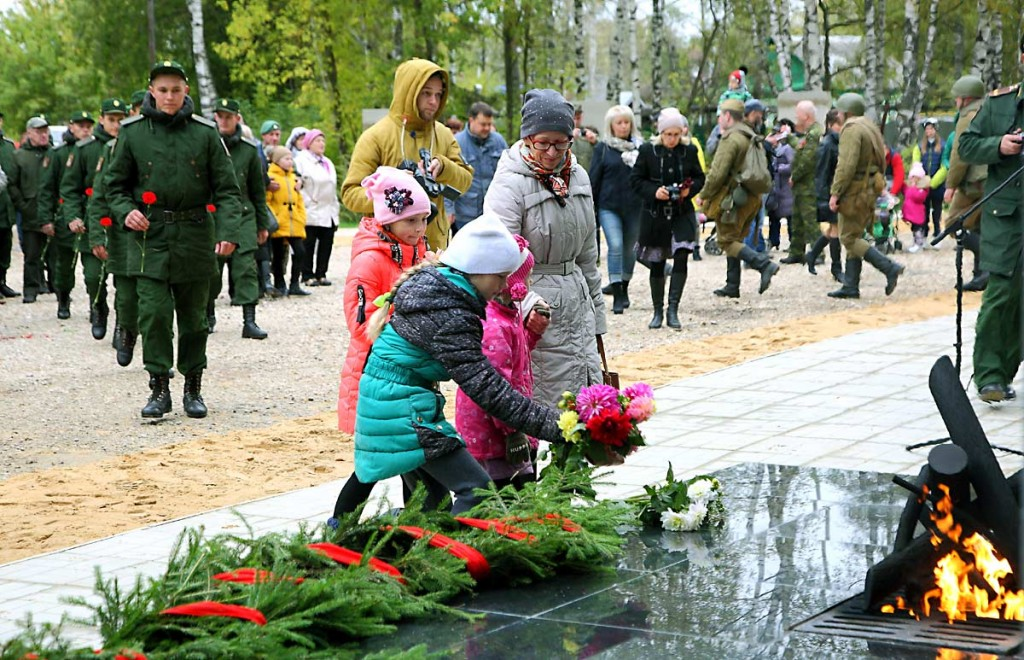 Открытие монумента на Аллее Мужества, Мелехово 07