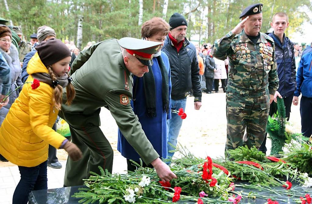 Открытие монумента на Аллее Мужества, Мелехово 08
