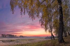 Рассвет. Осень. Дичковское озеро.