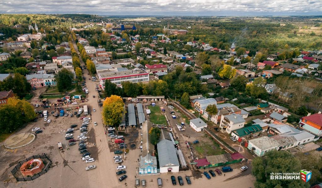 Рынок на соборной площади, Вязники с высоты 01