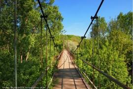 Город Муром. Микрорайон Вербовский. Мост через речку Илевну — май 2014