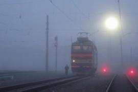 Железнодорожная станция Вязники в тумане