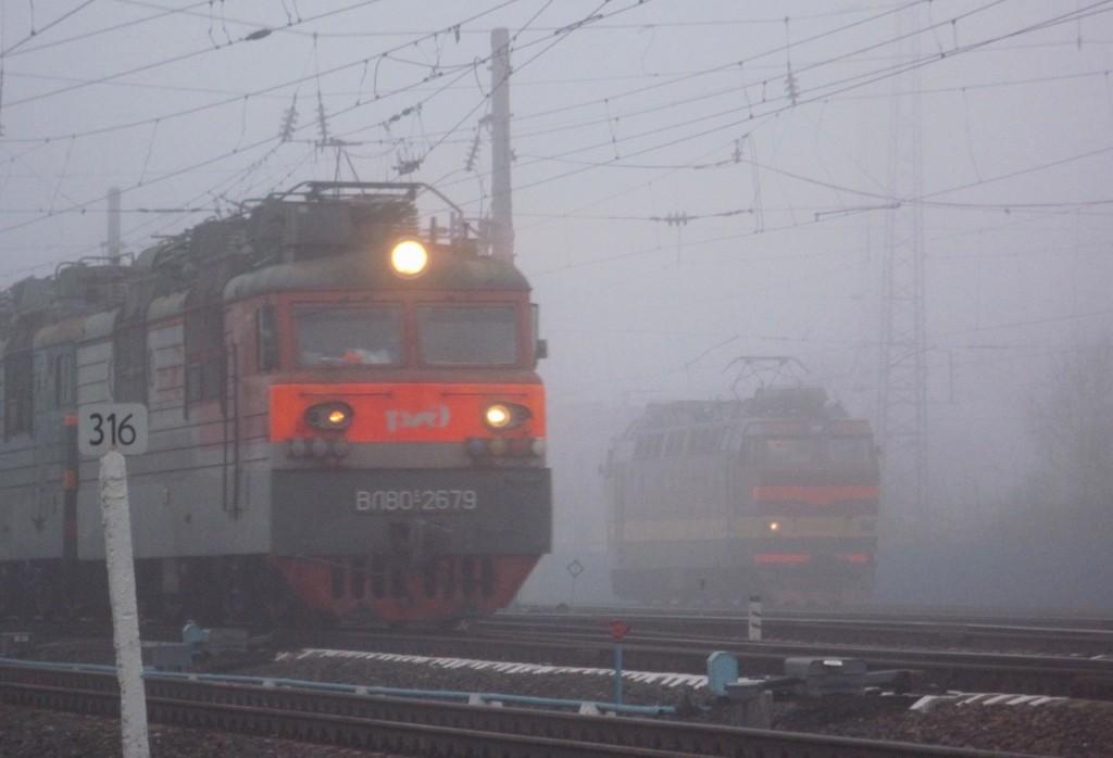 Железнодорожная станция Вязники в тумане 02