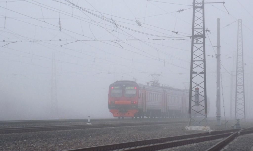 Железнодорожная станция Вязники в тумане 03