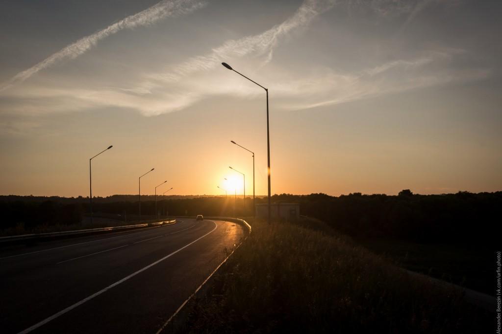 Закат на Муромском мосту 02