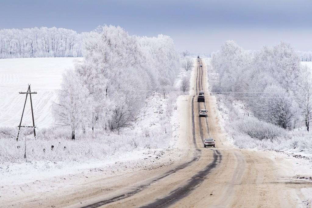 Красоты зимних дорог 01