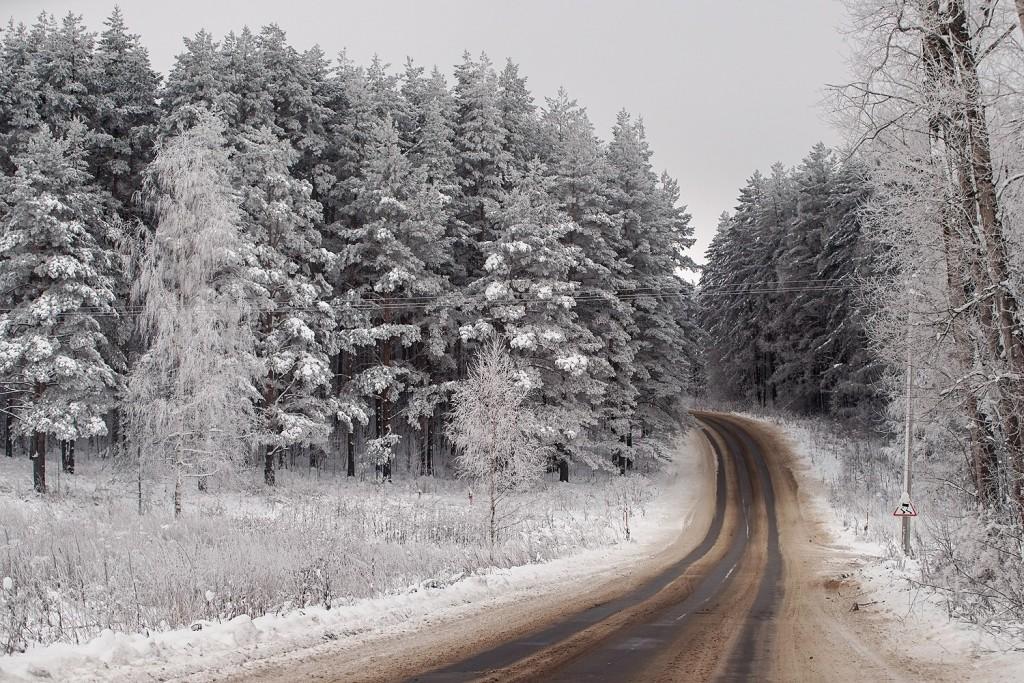 Красоты зимних дорог 04