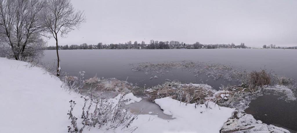 Лед сковал берега Содышки ( конец ноября, Владимир) 02