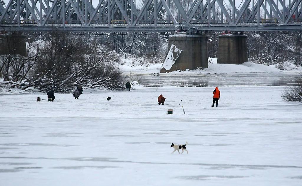 Первый лед на Клязьме и первые рыбаки 03