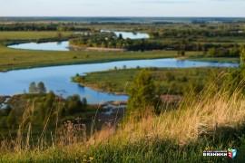 Подгорное озеро и река Клязьма с венца на Текмаше