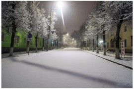 Ноябрьский снегопад в Коврове