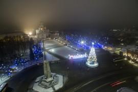 Аэросъемка зимнего Владимира от Алексея Кузнецова