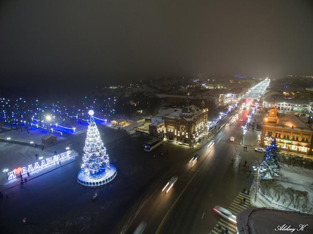 Аэросъемка зимнего Владимира от Алексея Кузнецова 03