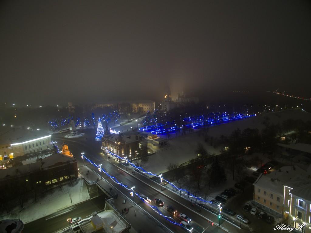 Аэросъемка зимнего Владимира от Алексея Кузнецова 04