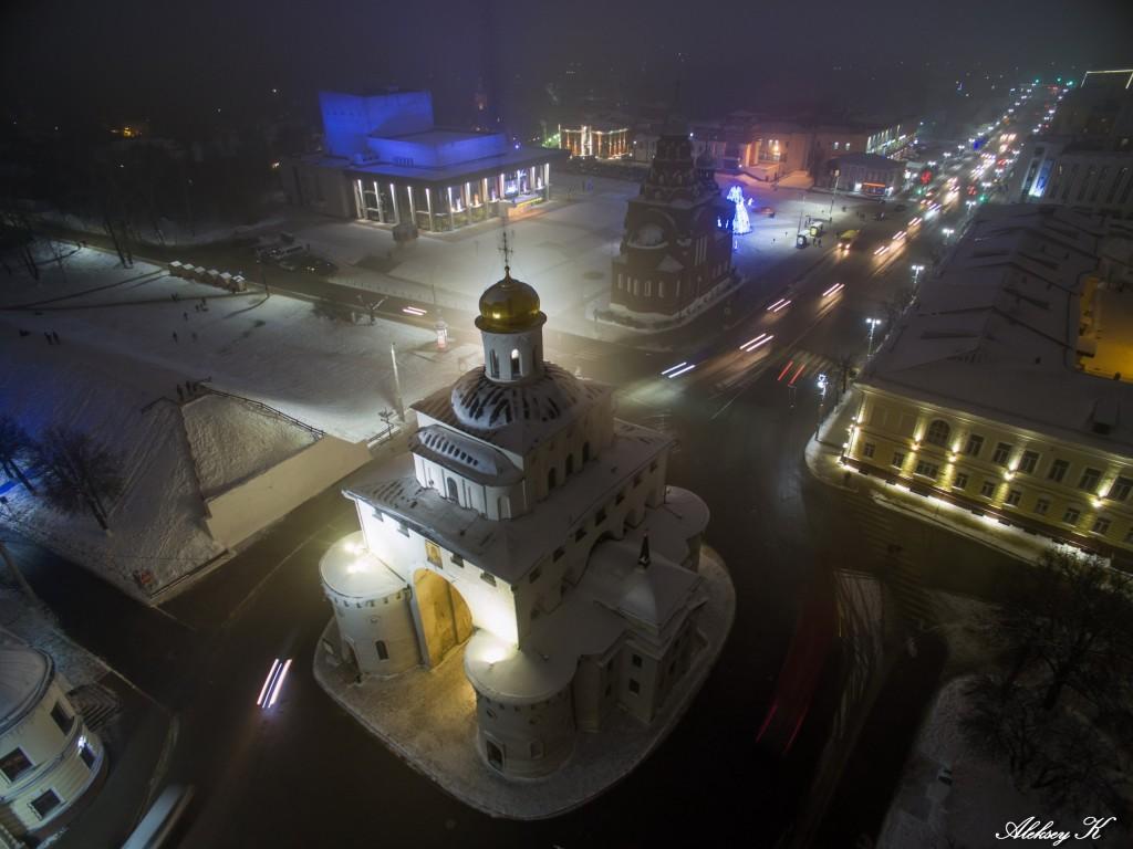 Аэросъемка зимнего Владимира от Алексея Кузнецова 08