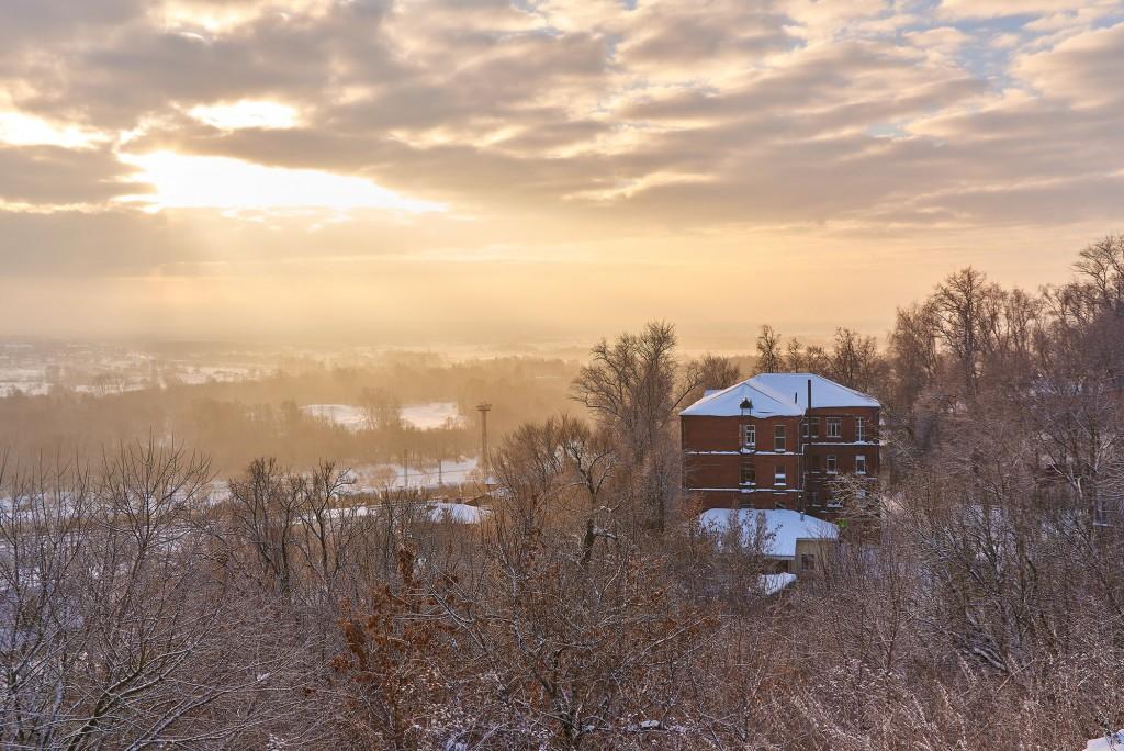Декабрьский рассвет во Владимире 04