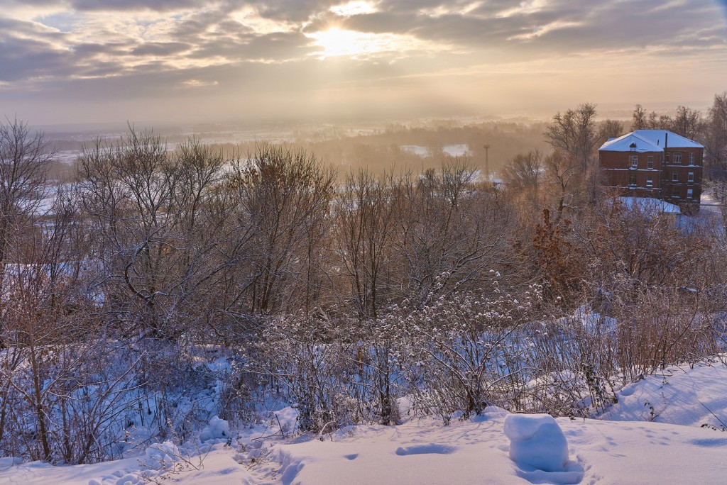 Декабрьский рассвет во Владимире 05