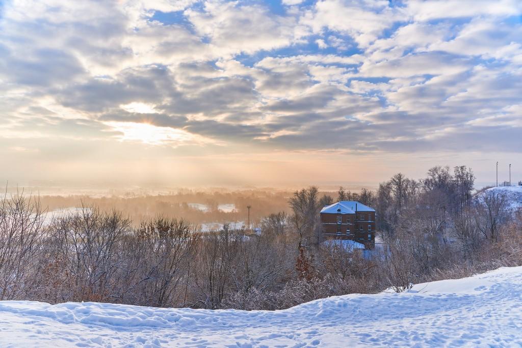 Декабрьский рассвет во Владимире 06