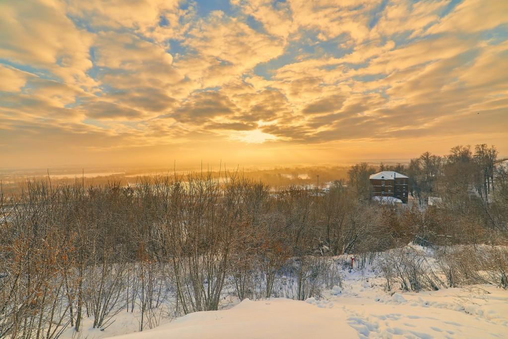 Декабрьский рассвет во Владимире 08