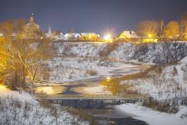 Заснеженный ночной Суздаль (конец декабря 2017)