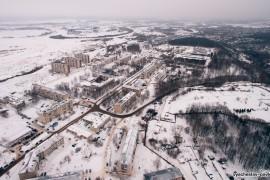 Зимний Текмаш с высоты, Вязники