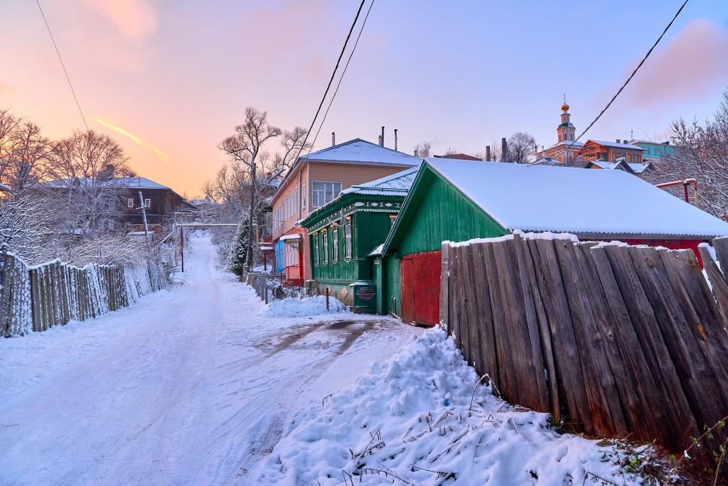 Конец декабря. Тихая улочка Владимира