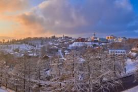 На закате ( конец декабря, во Владимире )