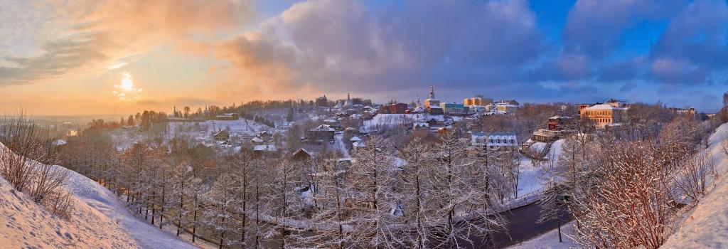 На закате ( конец декабря, во Владимире ) 01