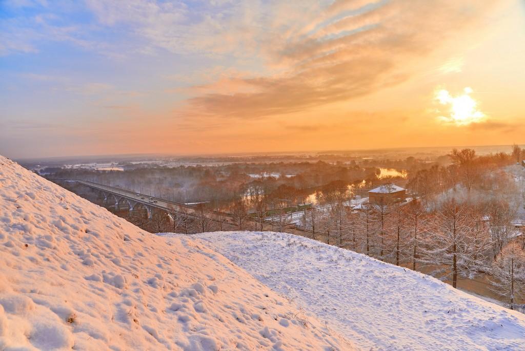 На закате ( конец декабря, во Владимире ) 09