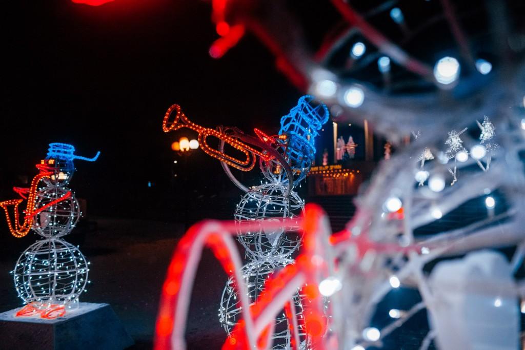 Новогодний сноумэн-бэнд во Владимире 03