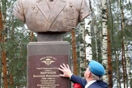 Открытие памятника Герою Советского Союза В.Ф. Маргелову в Мелехово