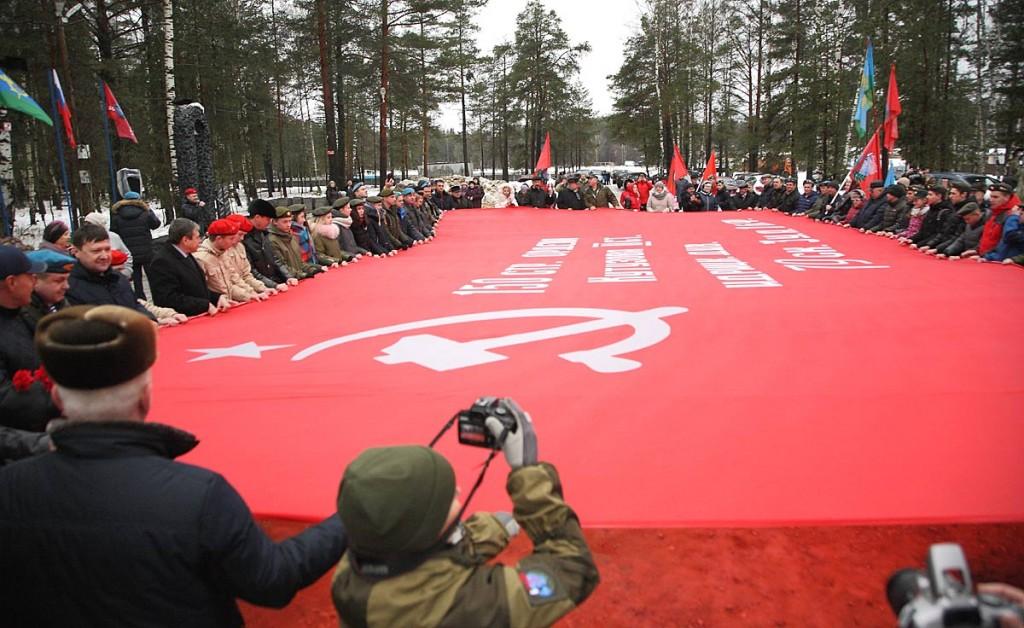 Открытие памятника Герою Советского Союза В.Ф. Маргелову в Мелехово 05