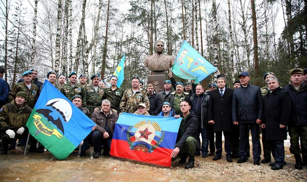 Открытие памятника Герою Советского Союза В.Ф. Маргелову в Мелехово 07