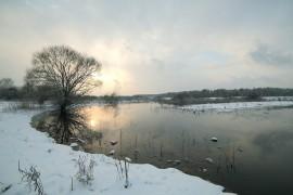 Разлив на реке Клязьма 22 декабря сего года.
