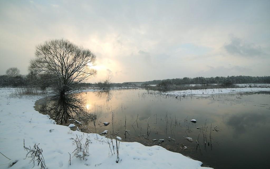 Разлив на реке Клязьма 22 декабря сего года 01
