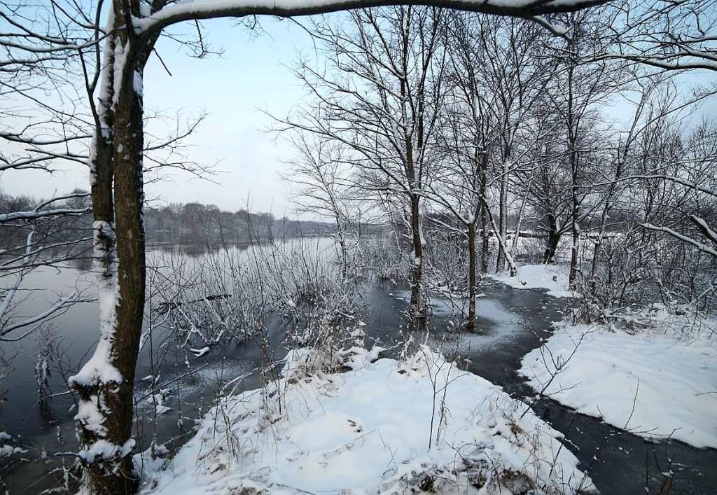 Разлив на реке Клязьма 22 декабря сего года 02