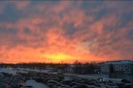 Рассвет в Коврове (декабрь 2017)