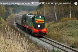 Уходящий в золотую осень. ЧМЭ3 4600 с пригородным поездом Ковров — Муром.