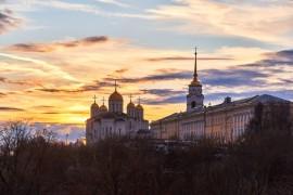 Владимир в январе на закате